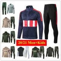 Men+Kids Tracksuit SUAREZ 2021 Madrid Soccer Jersey 20 21 SAUL Football Jacket CORREA Training Suit LEMAR JOAO FELIX Survetement Thailand