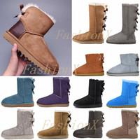 2021 Tasarımcılar Kar Botları Kadın Klasik Kürk Ayakkabı Ile Bayan Kız Lady Kış Yay Diz Yüksek Düz Sneakers Ayak Bileği Platfoowir #
