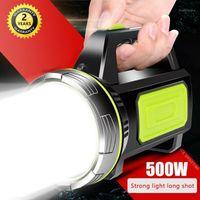 Wakyme 6000 mAh USB Şarj LED Iş Işığı Taşınabilir Spot 500 W Torch Açık Kamp Fener Searchlight1