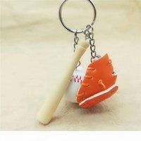 Sport Baseball Goves Schlüsselanhänger Holz Baseball Fledermaus Schlüsselring Keychain Schlüssel Ringe Bag Hängt Modeschmuck Mode