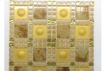2021 hot sale Manufacturers direct selling glass mosaic KTV home decoration main materials wholesale background wall mosaic 300*300mm