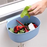 Дверной пластиковый висит мусорный мусорное ведро из твердого цвета без бессмысленного мусора можно кухню ванна ванная комната спальня отходов корзина съемные горячие продажи 1 29QH G2