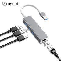 4 em 1 Multi USB Hub 3 0 para Laptop PC Acessórios para computador Adaptador USB Port Splitter para RJ45 3.0 Hub Adaptador Carregador
