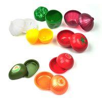Tragbare PP Crisper Aufbewahrungsbehälter Gemüse Obst geformte Behälter Küche Zwiebel Tomaten Lemon Fresh-Speicher-Organisator Seal Box VT1845