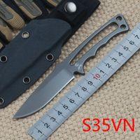 Chris Reeve Soldat Soldat Titanium Couteau droit S35vn Tactique Camping Tactique Chasse Survie Couteaux de poche Kydex Geath EDC Outils Collection