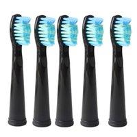 5pcs Seago Cabezales de cepillo de dientes para Lansung SG610 SG908 SG917 Cepillo de dientes Cepillo de dientes Reemplazo eléctrico Cepillo de dientes Cabezales de cepillo suave