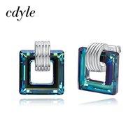 مسمار cdyle منمق مع بلورات الأزياء حلق الإناث حجر الراين البركانية بوكل d'oreille pendientes موهير