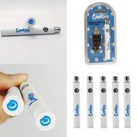 新しいクッキーヴェイプバッテリーキットプリセオーのバッテリー羽毛ペン電池350mAh容量USB充電器Eシガレット包装付きの調節可能な電圧