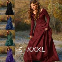 Classique Femmes Jahrgang mittelalterliches Kostüm Princesse Renaissance Gothique Robe Moda Feminina S-3XL