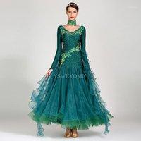 Bühnenabnutzung Hohe Qualität Ballsaal Kleid Für Frauen Flamenco Walzer Wettbewerb Tanzen Rock Spandex Lycra Standard on sales1