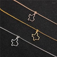 Pendant Necklaces 10 Outline Texas State Necklace America USA City TX Hometown Hollow Map Jewelry1