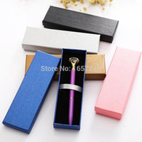 Luxury Elegant Jewelry Gift Boxes New Black Pink Blue Pencil Case Display Retail Gift Box Stationery School Office Pen Box