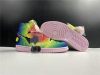 Nuova esclusiva J Balvin 1 Scarpe da basket Designer multi colore nero rosa schiuma fashion chaussures formatori di alta qualità taglia36-46