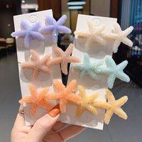 Sweet Romantic Barrette Crystal Starfish Departamento de Hairclip Departamento de Rhinestone Bangs Clip Hairpin Lado Cabello Accesorio 7 colores