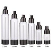 cosmétiques AS clair noir emballage flacon pulvérisateur bouteille d'émulsion bouteille vide ensemble 15ml 30ml 50ml 80ml 100ml 120ml