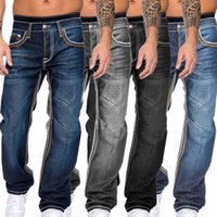 MJARTORIA Мужские джинсы осень Джинсовые брюки Тонкий прямой темно-синий Regular Fit досуг Длинные брюки Жан Мужчины Hombre