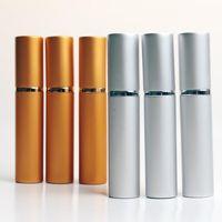 New 8ML Moda de viagem de alumínio Perfume com frasco de aço Roll On vazios Refinamento Óleos essenciais frascos