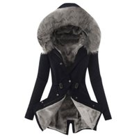Female Trench Ladies Winter Thicken Fur Lining Coat Womens Winter Warm Thick Long Hooded Female Slim Overcoat #45