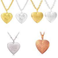 Vintage Rose Blume Medaillon Halskette für Frauen Mädchen Modeschmuck Geschenk 18 Karat Gold Überzogene Liebe Herz Foto Medaillon Anhänger 599 K2