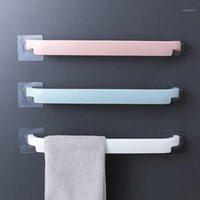 Serviette de la salle de bain porte-serviettes multifonctions Serviette sans perfectionnage Cuisine Cuisine Auto-adhésif Bar Racks muraux1