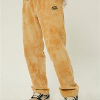 ICU banditk tie dyed cloud corduroy straight pants fashion label ins men and women couples loose work clothes pants