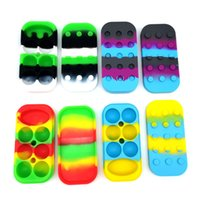6+1 Nonstick Wax Containers silicone big rubber wax Jar 7-in-1 Silicon container jars dab storage dabber Box DHL Free
