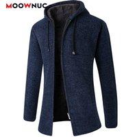 Cardigan maniche lunghe maglioni di moda uomo solido cappotto spessore casual sottile classico Tenere caldo maschio primavera autunno cappelli Moowniuc 20121010