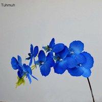 Dekorative Blumen Kränze 11 STÜCKE Seide Künstliche 8 Köpfe Phalaenopsis Schmetterling Orchideen DIY Gefälschte Blume Blumenstrauß Hochzeit Home Vase de