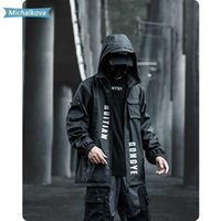 Hip Hop Tactical Vestes Vêtements hommes coupe-vent en vrac extérieur Veste Techwear Mode Streetwear manteaux noir Michálková