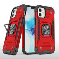 Car Mount Ring Kickstand Case dla Huawei P30 P40 Lite P40 Pro Y6 2019 P Inteligentny Z LG Stylu 6 5 K51 Aristo 5 Motorola G7 G Power Stylus