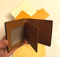 M60332 N63263 N62663 Erkekler Kısa Cüzdan Mono Tuval Bifold Cep Para Kart Tutucu Kılıfı Çantalar Moda Deri Küçük Cüzdanlar 789