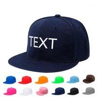 Bordado personalizado homens mulheres hip hop caps personalizado texto logotipo letra número snapback cap moda rua dança hat1