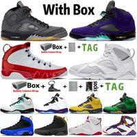 2021 Jumpman Alto 5 5s Black Muslin Sail Sapatos de Basquete 7 7s Puro Dinheiro 9 9s Gym Red Sports Sports Sneakers