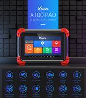 Xtool original x100 pad auto-clé programmeur outil de repos d'huile de repose-compensation ODOMMED Mise à jour gratuite en ligne X100PAD fonction comme x300 pro