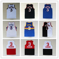 Allen 3 Iverson Jerseys Top Qualité Pas chère Georgetown Hoyas Allen 3 Iverson Basketball Jerrsy College University Chemises Mens cousus S-XXL