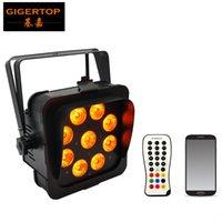 TIPTOP Stage Light 6in1 mariage boîtier noir UPLIGHTS stand DJ LED par LED 9x18W lumières batterie sans fil nominale dmx 2.4G
