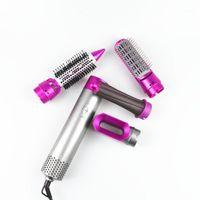Pennelli per capelli elettrici 5 in 1 Pennello Air Set Professionale Straightener Bigodino Asciugatrice Multifunzione Fast Hester Styling Dritto Curl1