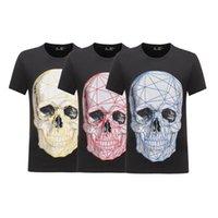 Chemise de concepteur de sac PP T-shirt à manches courtes avec impression maille cristal cristal skull hip hop hip hop tops tkur
