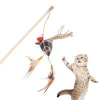 Legendog مضحك القط دعابة عصا التفاعلية الديك شكل وهمية ريشة القط دعابة لعبة تلعب لعبة القط التدريب التفاعلية QYLXVN