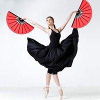 Party Favor 2 sztuk Duży Wentylator Składany Nylon Cloth Handheld Chinese Tai Chi Decoration Fold Hand Fav Fav