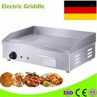 كامب مطبخ جودة عالية 220 فولت عداد الأعلى شواية كهربائية مسطحة لوحة شواء الفولاذ المقاوم للصدأ لمطعم المطبخ 1