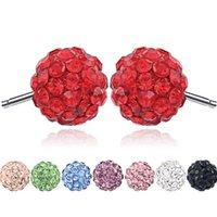 السيدات سبيكة بوتيك حجر الراين مزاجه كامل الماس الكريستال الكرة الأذن مجوهرات هدية حزب بالجملة