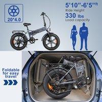 미국 주식 전기 자전거 500W 20 인치 지방 타이어 마운틴 해변 스노우 자전거 성인을위한 전기 스쿠터 7 속도 기어 E-Bike W41215025