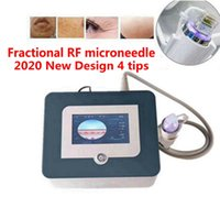Diseño 4 consejos Fraccional RF Microneedle Facial y Cuerpo Marcos de estiramiento Eliminación de acné Máquina de belleza del cuidado de la piel.