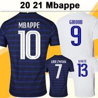 2021 Mbappe Griezmann Mens Futebol Jerseys Pogba Giroud Dembele Kante Pavard Home Away Camisa de Futebol Fardos de Manga Curta