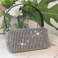 Strass 2021 Nouvelle qualité de luxe de luxe de luxe marée bouchée de diamant sac de diamant sous-bras sac épaule messenger sac petite sac à main