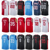 Ekran Baskı Şehir Kazanılan Baskı Basketbol PJ Tucker Jersey 17 Victor Oladipo 7 John Duvar 1 David Nwaba 2 Demarcus Cousins 15 Kahverengi