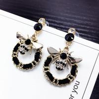 Bienenperlen Langer Marke Designer Luxus Schmuck Pendientes Anweisung Ohrringe für Frauen Mujer Brincos