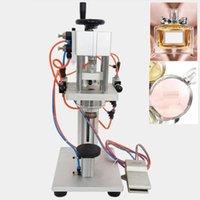 Processadores de alimentos Perfume Garrafa de vidro Capping Máquina Spray Pneumatic Crimping1