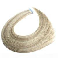 Russische Haarband-Haarverlängerung 2.5Grams PCS 40PCS Lot kann ein Jahr Jungfräsentikel-Nagelhaut ausgerichtetes Band in den Haarverlängerungen dauern